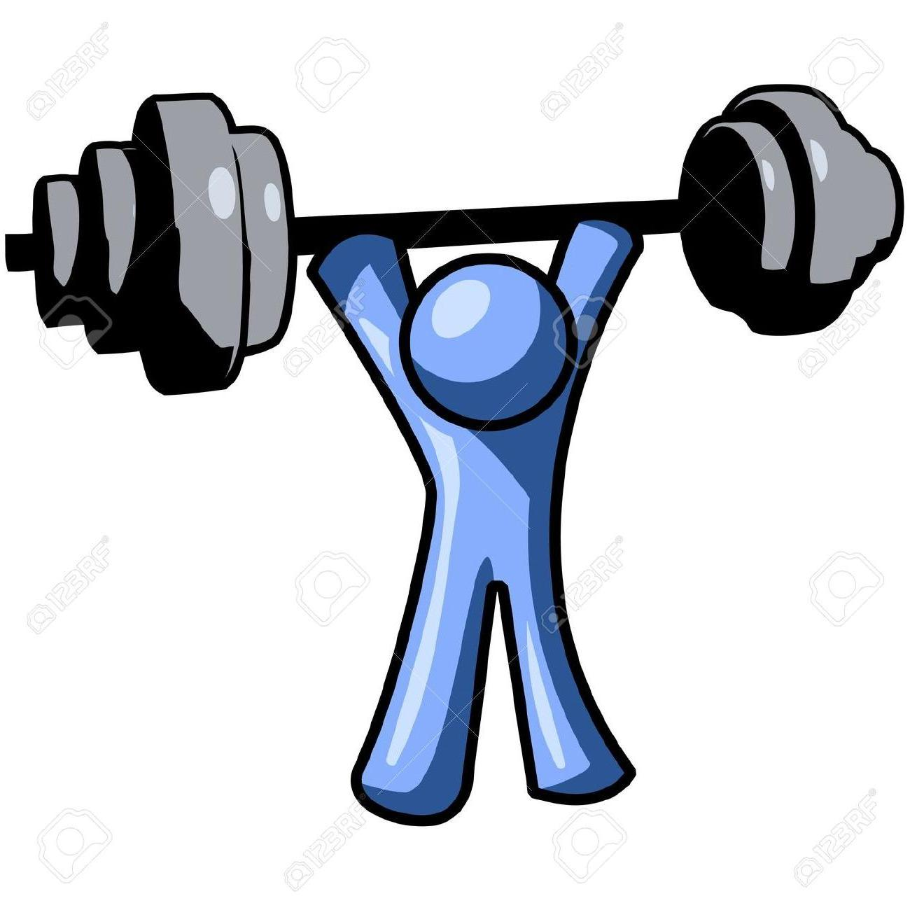 1300x1300 Hd Best Blue Man Lifting Weights Clipart Drawing File Free