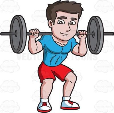 400x398 Men Clipart Lifting Weight