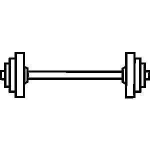 300x300 Bar Clipart Weight Lifting