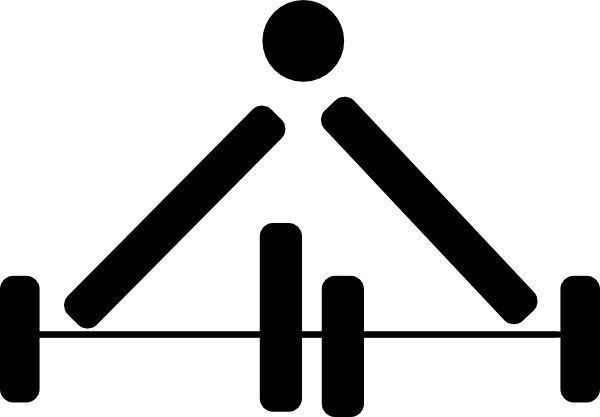 600x417 Weight Lifting Symbol Clip Art