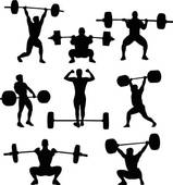 159x170 Weightlifting Clip Art