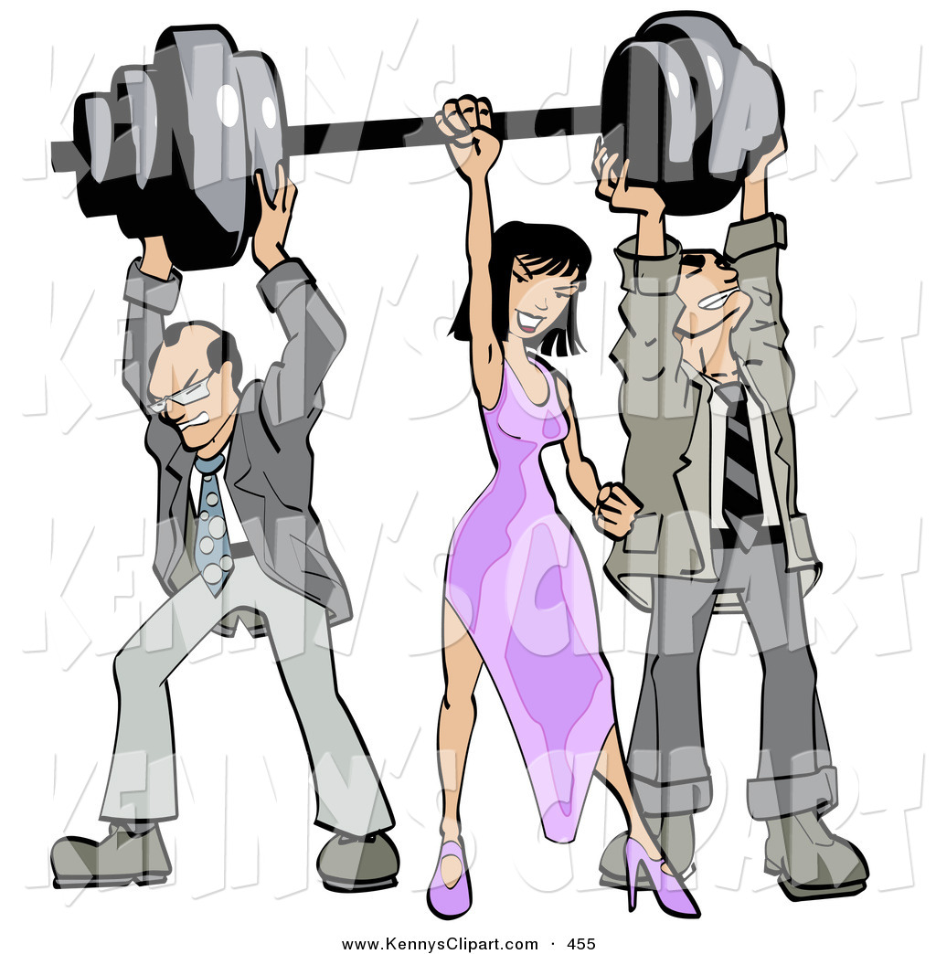 1024x1044 Clip Art Of A Pair Of Struggling Businessmen Holding Up Weights