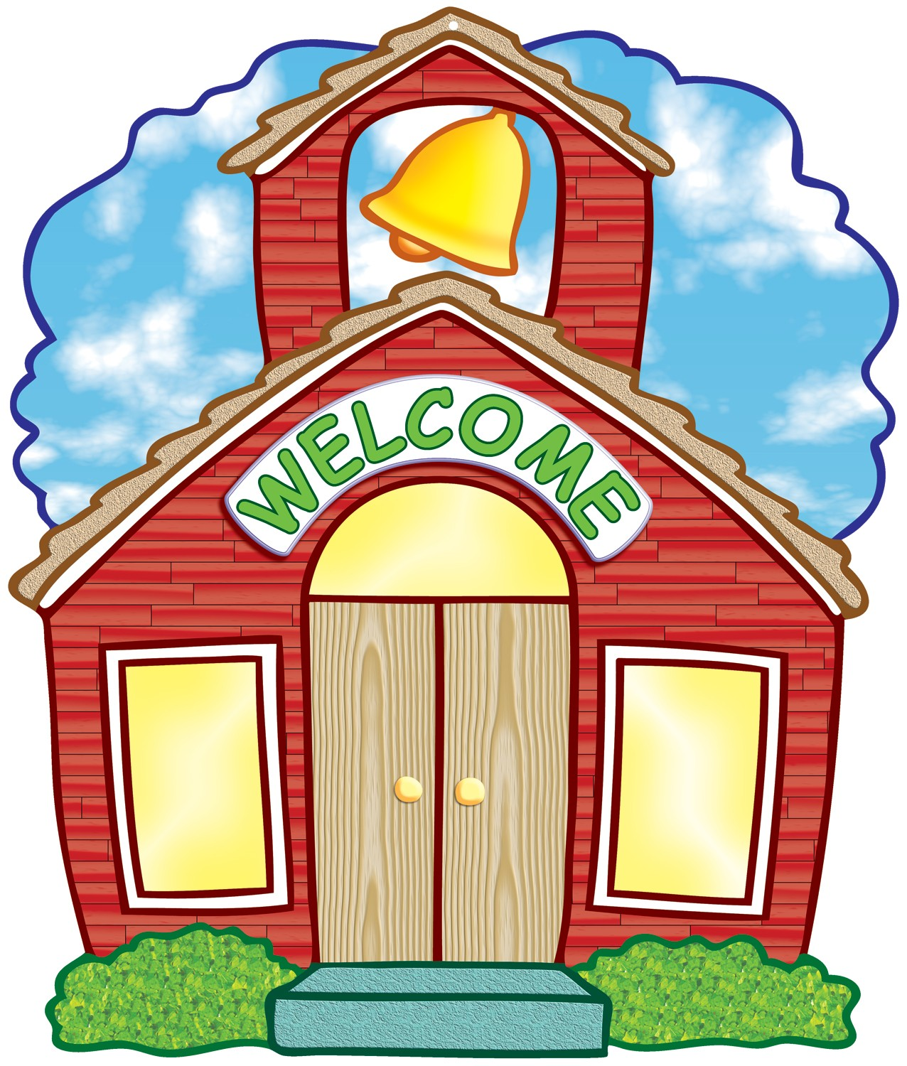 1276x1500 Welcome Back To School Schoolhouse Clipart