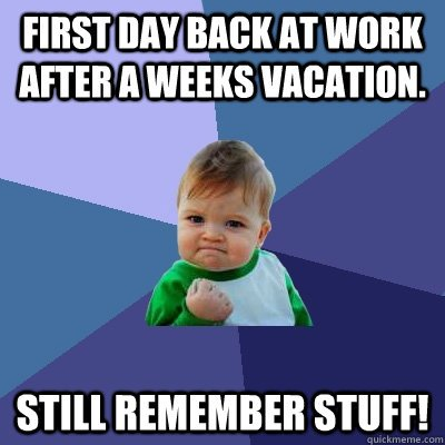 400x400 Back To Work And I Already Need A Vacation From My Vacation!