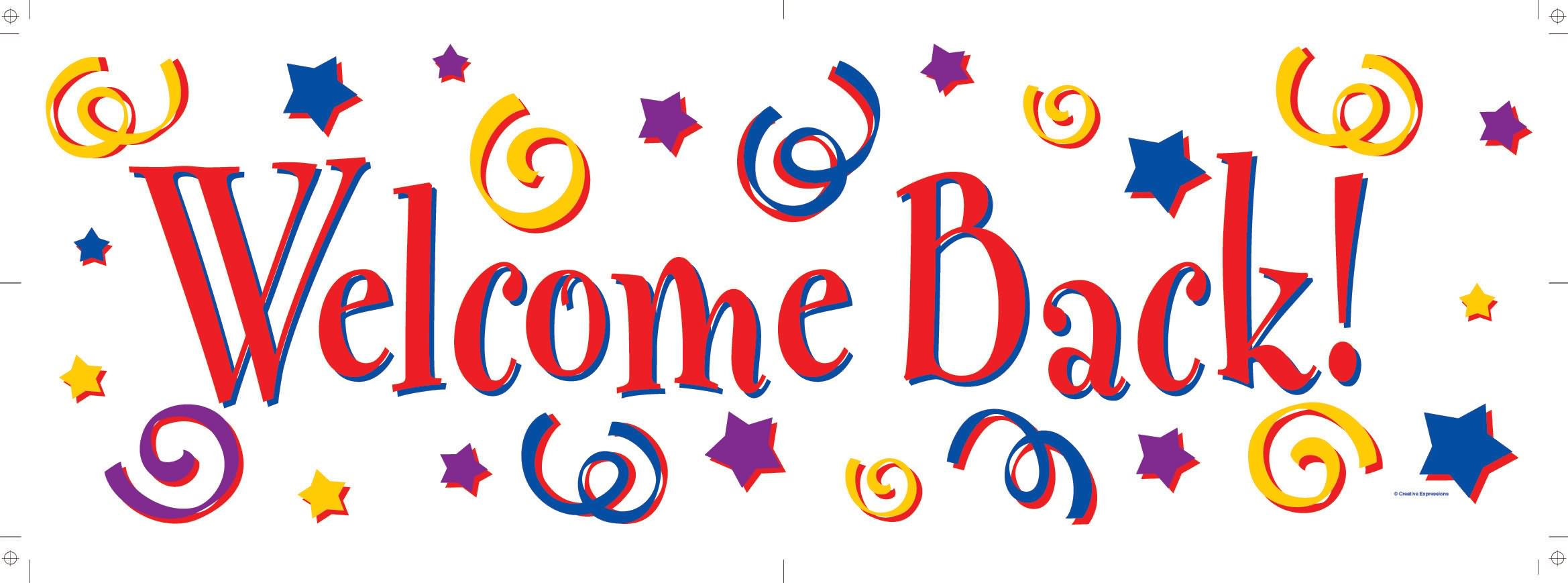 2338x869 Welcome Back Sign Clipart Clipartfox