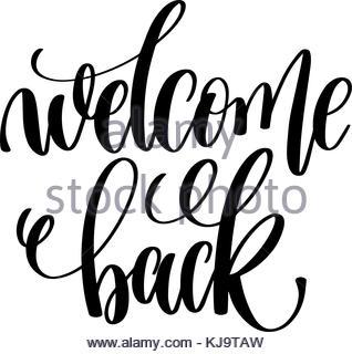 318x320 Welcome Back To School Handwritten Lettering. Modern Vector Hand