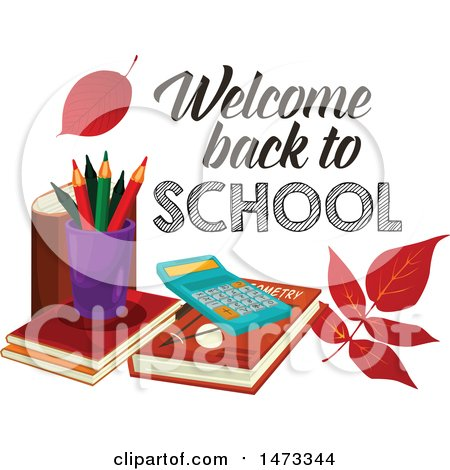 450x470 Royalty Free (Rf) Welcome Back To School Clipart, Illustrations