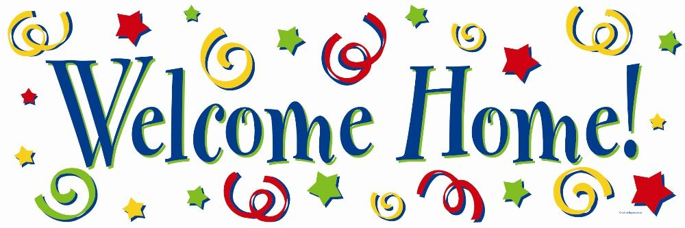 1000x333 Welcome Home Clipart