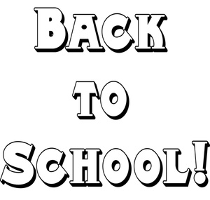 300x285 Free Black And White Back To School Clipart