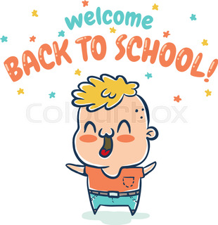310x320 Children Are Going To The School Stock Vector Colourbox