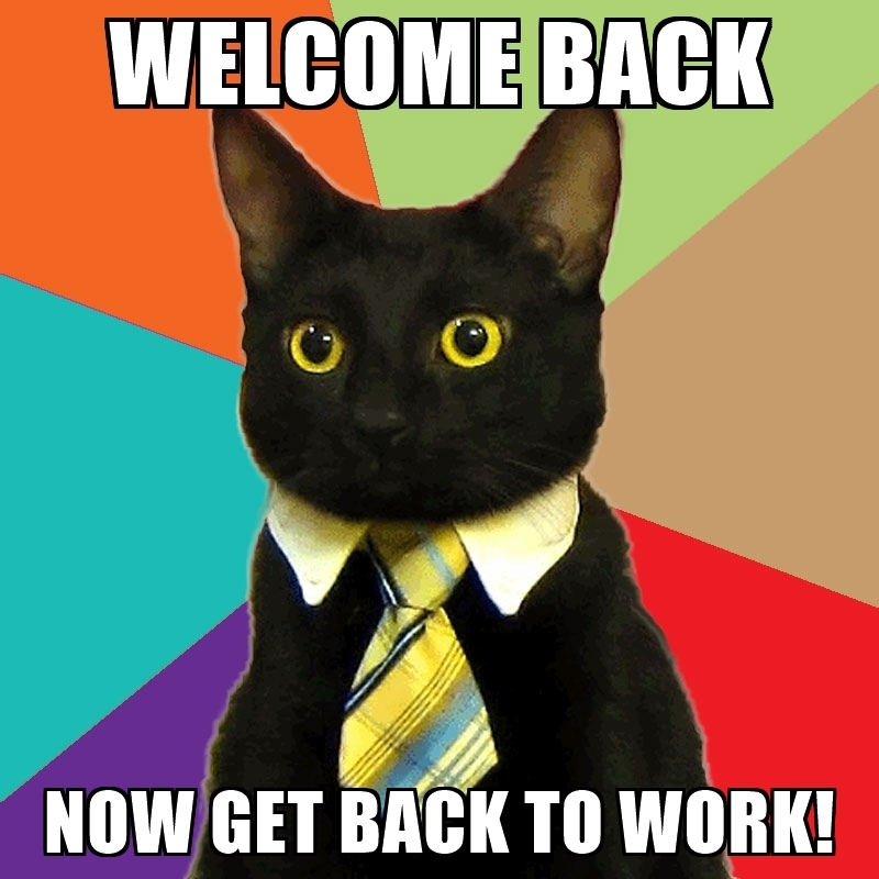 800x800 Welcome Back Now Get Back To Work!