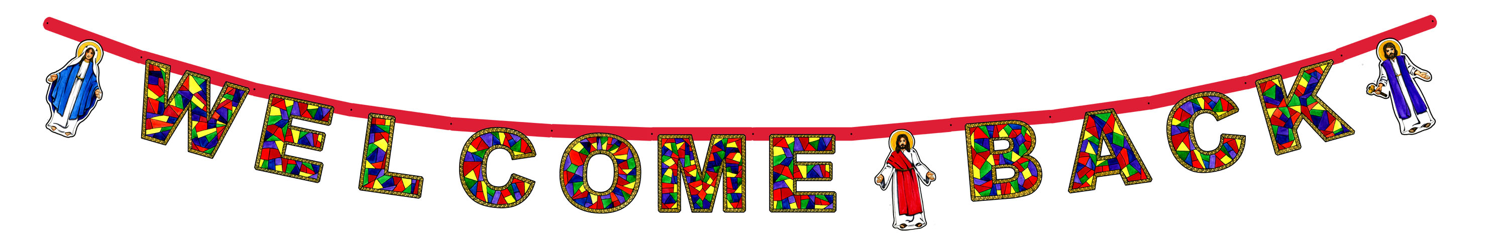 3000x500 Welcome Back Sign Clipart