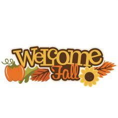 236x236 Welcome Fall Clipart