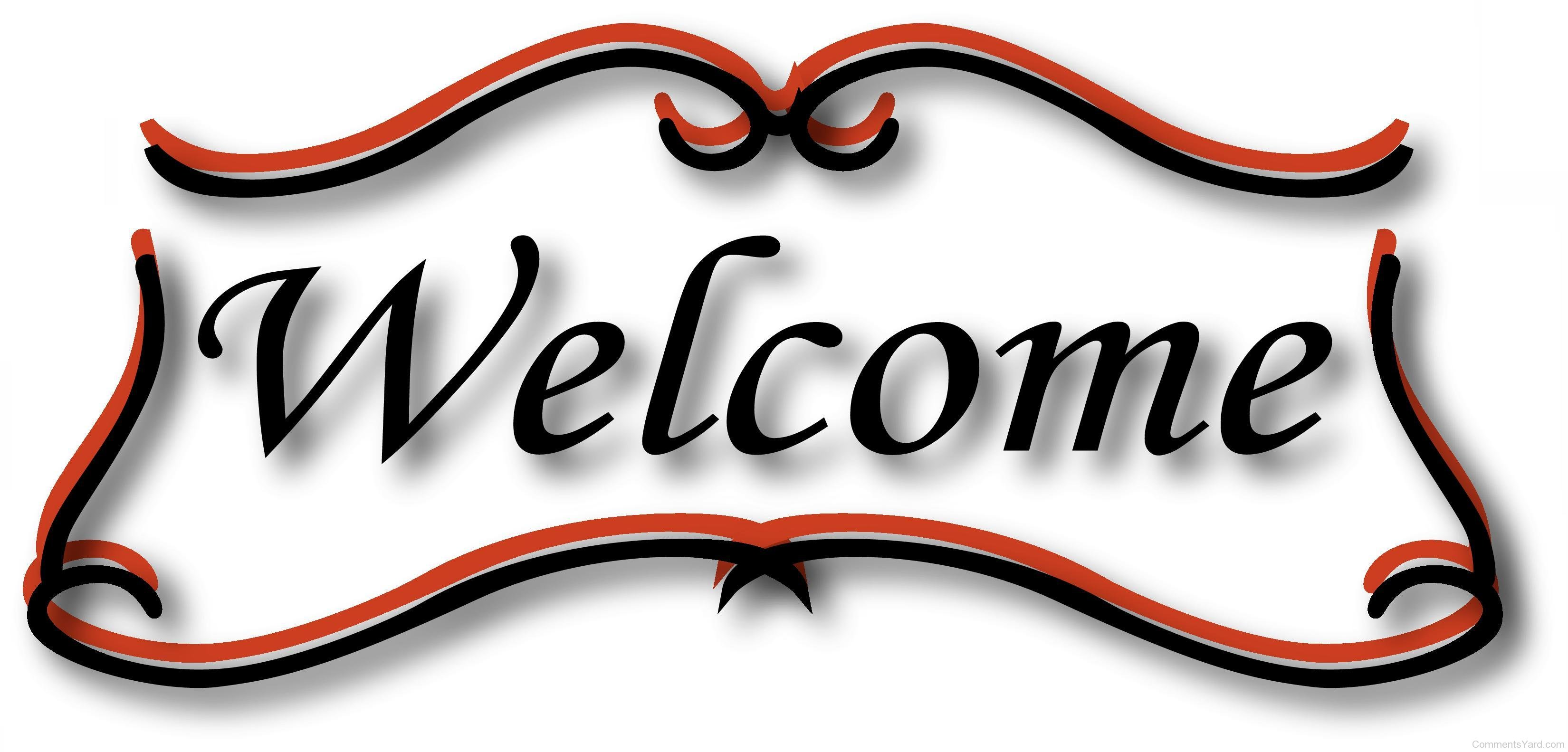 3300x1583 Free Welcome Color Clipart Image