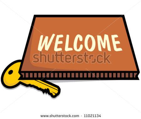 450x380 Welcome Mat Clipart