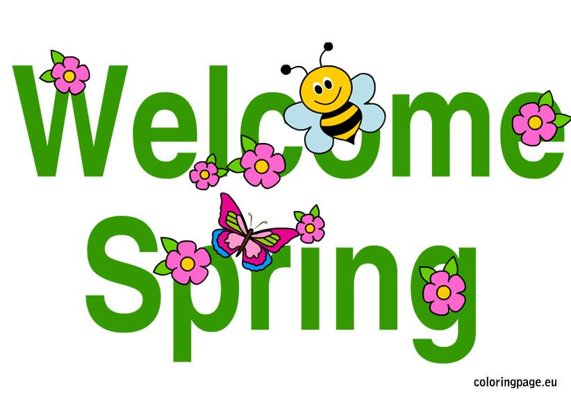 822x575 Welcome Spring Clip Art 101 Clip Art