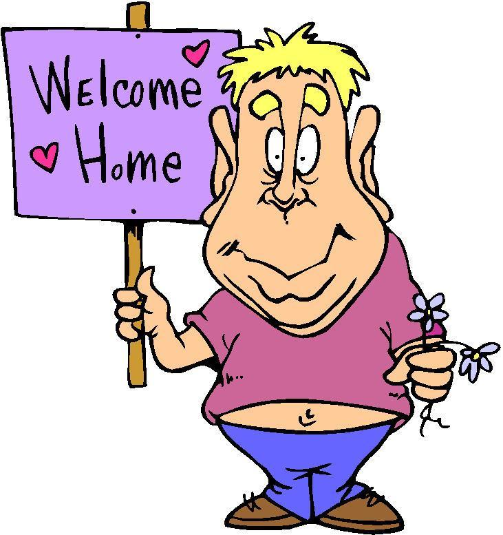 731x777 Poster Welcome Home Clipart