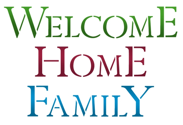 600x411 Stencil A4 Welcome Home Family Scrapbooking And Polymer Clays