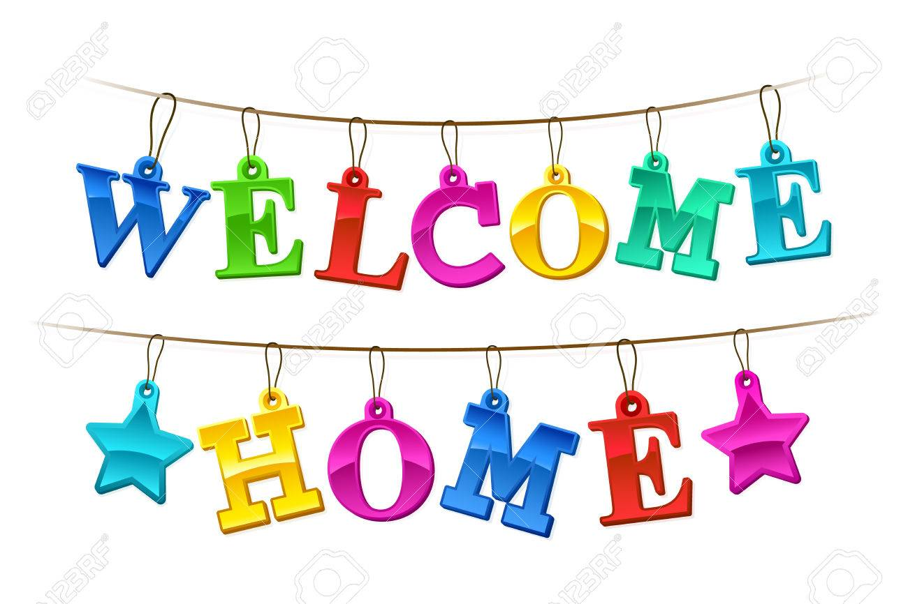 1300x866 Colorful Welcome Home Banner With Letters Design As Hanging Tags
