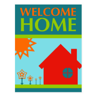 324x324 Welcome Home Postcards Zazzle