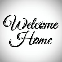 200x200 Welcome Home Greeting Vector Image