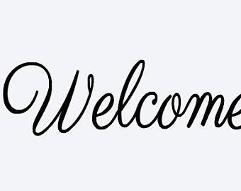 340x270 Welcome Sticker Etsy