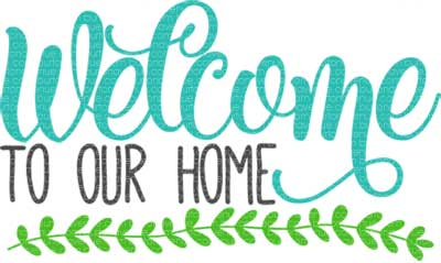 400x239 Welcome To Our Home Svg Cut File