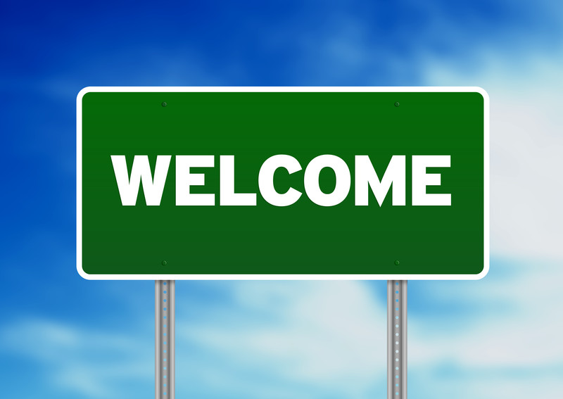 800x567 Welcome Home Road Sign Clipart