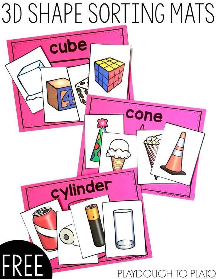 736x952 Best 3d Shapes Kindergarten Ideas 3d Shapes