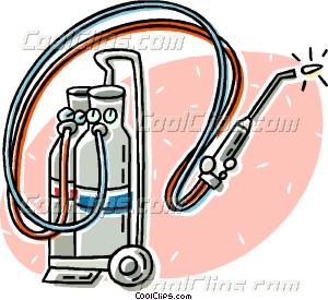 300x275 Welding Torch Vector Clip Art