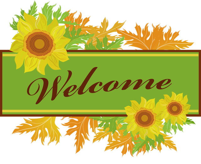 640x523 Clipart Welcome Sign