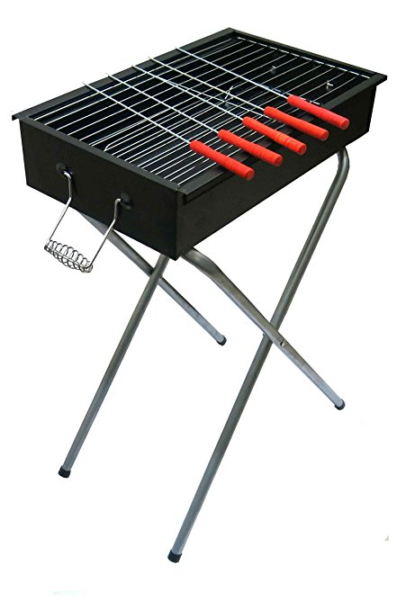 451x678 Fabrilla Barbeque Compact With 5 Skewers Barbecue Charcoal Grill