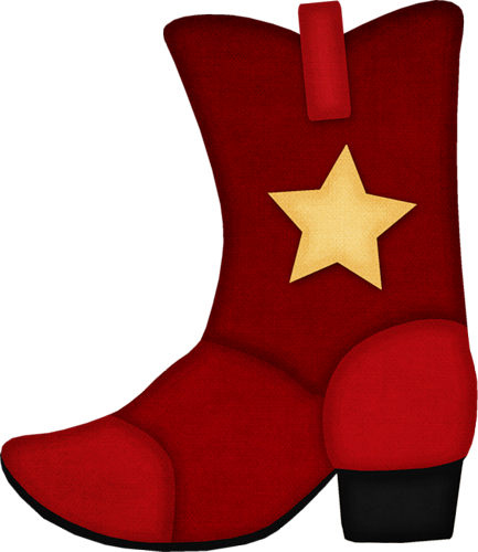 433x500 Red Cowboy Boot Clipart Red Cowboy Boots, Western