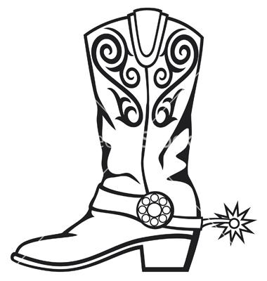 380x400 Cowboy Boot Silhouette Clip Art Cowboy Boot Vector Western