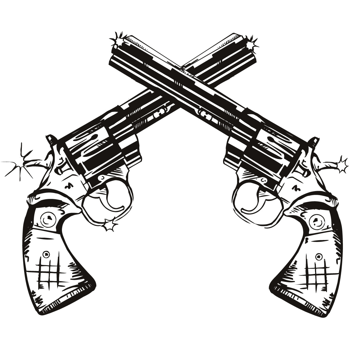 1200x1200 Drawn Gun Western Gun