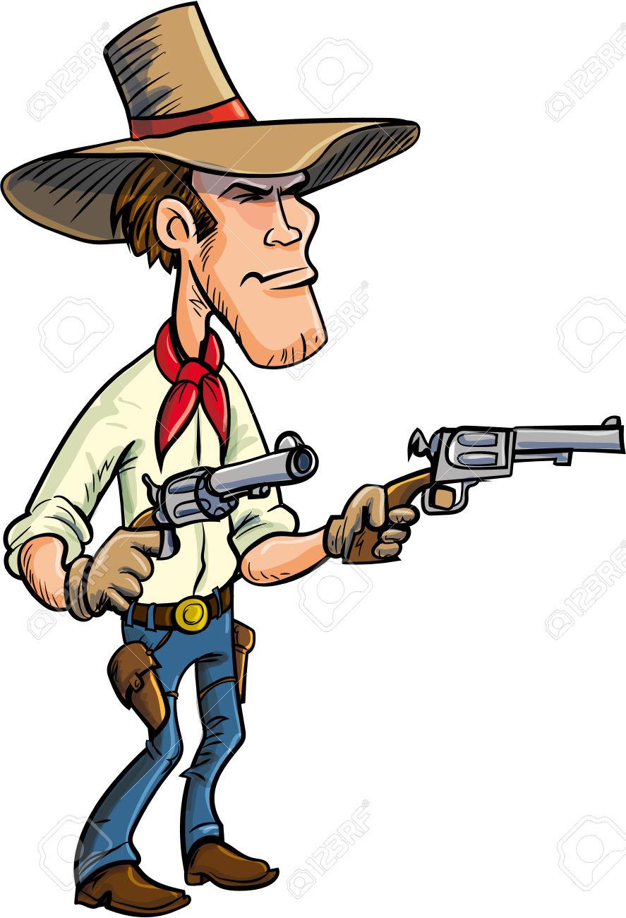887x1300 Shooter Clipart Western Gun