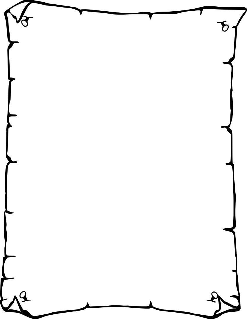 850x1100 Parchment Paper Border Clip Art
