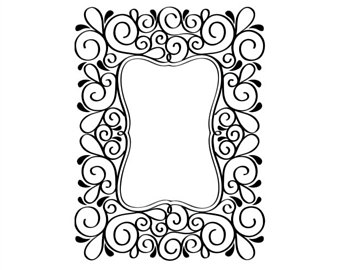 340x270 Scroll Frame Etsy