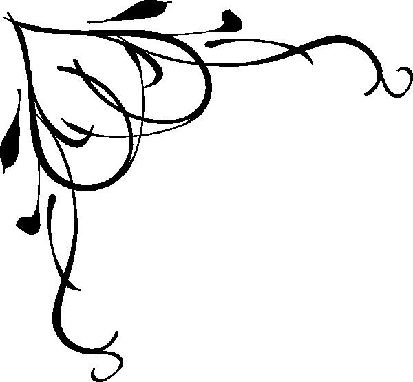600x555 Scrolling Border Clip Art