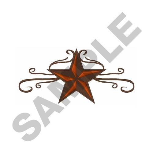 500x500 Western Star Scroll Border