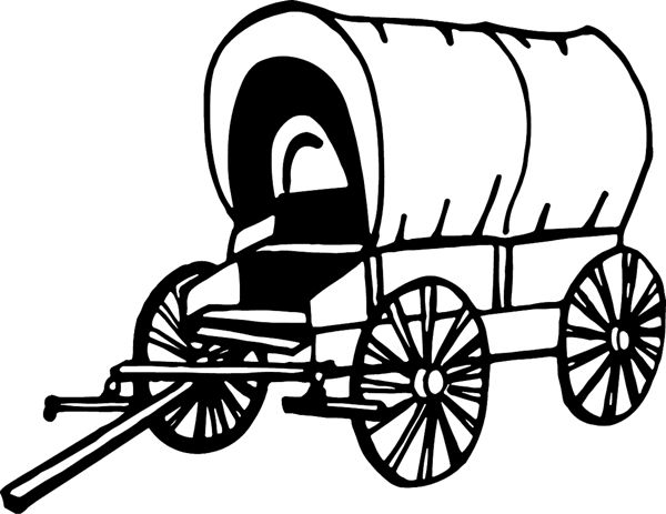 Western Wagon Clipart