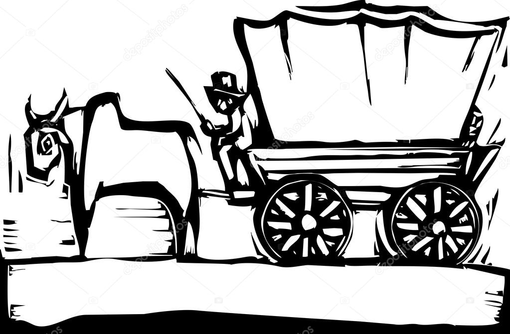 1023x671 Covered Wagon Stock Vectors, Royalty Free Covered Wagon
