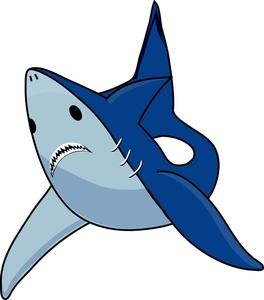 264x300 Animated Shark Clipart