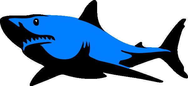 600x277 Blue.shark Clip Art