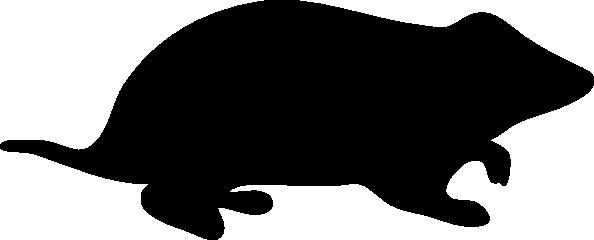 594x240 Hamster Silhouette Clip Art Free Vector 4vector