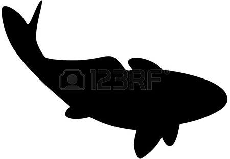 450x312 Black Fish Silhouette Royalty Free Cliparts, Vectors, And Stock