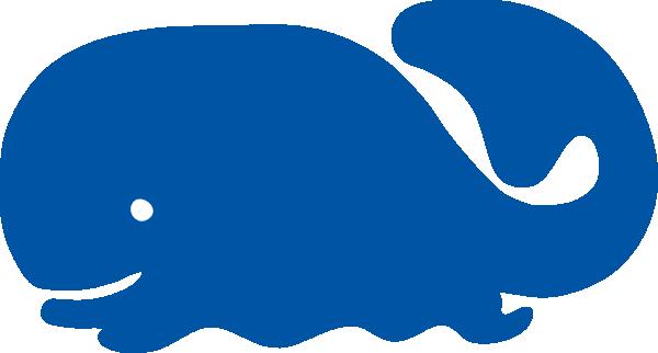 600x322 Blue Whale Cartoon Silhouette Clip Art