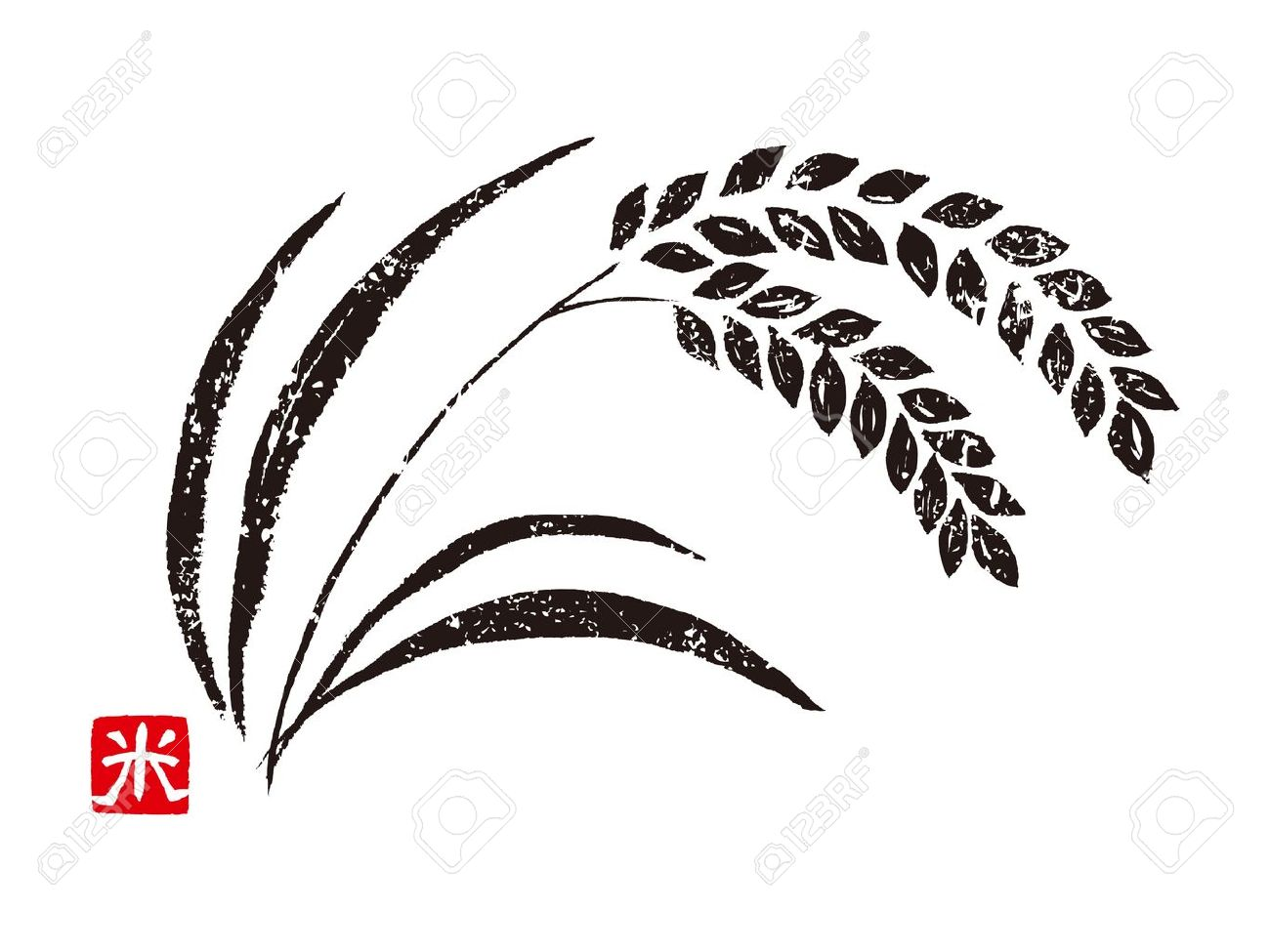 1300x975 Drawn Grain Vector