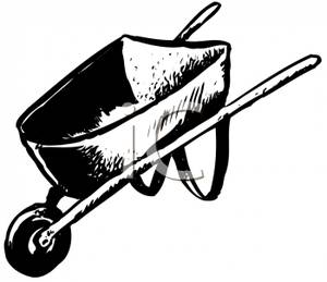 300x259 Picture Black And White Wheelbarrow