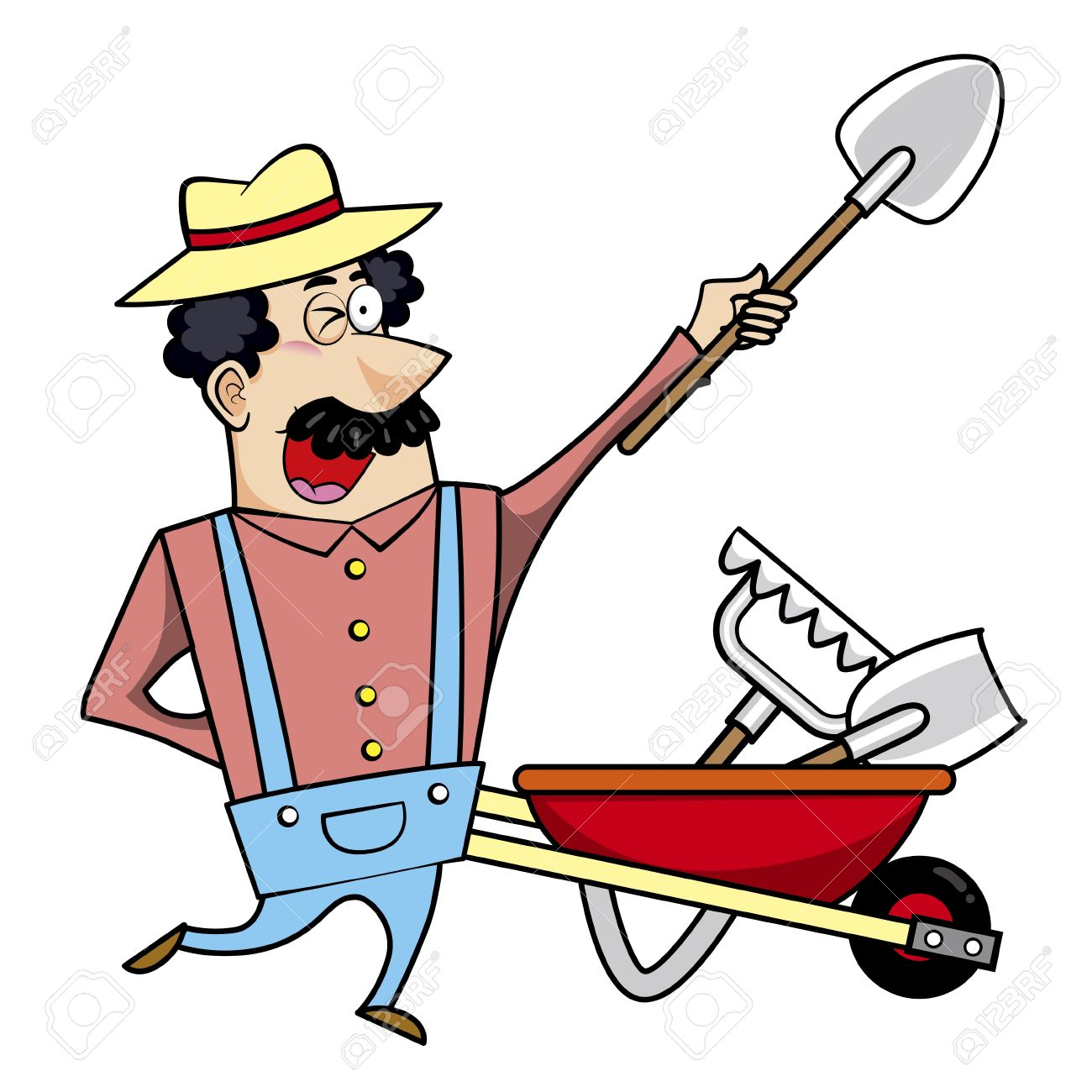 1300x1300 91 Wheelbarrows Stock Illustrations, Cliparts And Royalty Free
